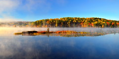 misty morning (anj_p) Tags: madawaskariver morning southalgonquin mist fall isle autumn colors foliage
