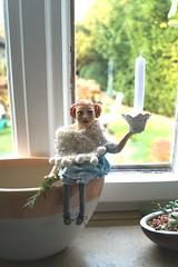 ...für den Herbst (krewerkerstin) Tags: kerzenhalter büste clay ton handmade geschenk modellieren gesicht malen malerei kunst handgefertigt