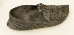 IMG_8612 (jaglazier) Tags: 103016 2016 900ad1100ad carrigallen clothing copyright2016jamesaglazier countyleitrim crafts decoration dublin ireland irish leitrim medieval museums nationalmuseum october shoes art floral incised inscribed leatherworking countydublin