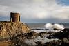 Breaking Waves (Fifescoob) Tags: autumn elie fife scotland ruin castle tower wave power sea coast coastal eastneuk canon 5ds landscape