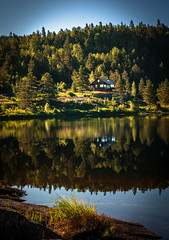 House by the lake (daniel_munch) Tags: adventure background beautiful branch calm clouds day discovery environment field forest grass green horizon house idyllic lake landscape light lines nature norway outdoor outdoors outside pasture path plant relax rock rural scandinavia scene scenery scenic season sky soil spring summer sun sunlight sunny tree vacation view water way white