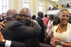 IMG_8735 (Atlanta Berean Church - photos.atlantaberean.com) Tags: congregation greeting hugs man smiling woman