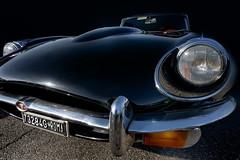 leaving the garage (marcello.machelli) Tags: rosso jaguar jaguaretype black blackjaguar sportcar vintage car vinragecar instantclassic england british vallelungaracingtrack classic vintagecar nera auto autosportiva nikon tokina nikond810 garage