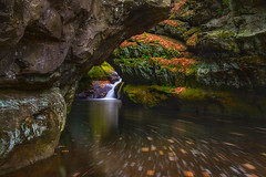 Converge (Yanbing Shi) Tags: wisconsin pewitsnest pewits gorge skilletcreek baraboo neutraldensity longexposure fall autumn leaves