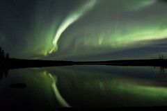 Aurora over Mid Lake (She Likes Odd) Tags: midlake aurora auroraborealis auroralarc northernlights northernmanitoba thompson manitoba nightsky nightphotography canon60d canoneos60d canonphotography astrophotography spaceweather geomagneticstorm tokina1116mm tokina