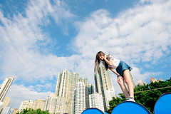 Blue Sky (KAY_Law a_a) Tags:  goodmorning  bluesky  goodweather    streetphotography  heart love   852 852ig 852girl hkig ighk hongkong hkgirl hkiggirl girl  mk mk badgirl  natural