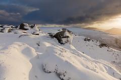 Kinder Scout Sunrise (Paul Newcombe) Tags: kinderscout winter peakdistrict snow england landscape autumn november outdoor hill mountain vista canon1635f4l uk nationalpark derbyshire paulnewcombephotogrpahy peaks plateau sunrise sidelight