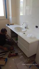 Top bagno in calacatta