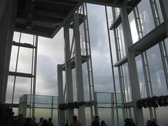 Open deck details of Shard #1 (streetr's_flickr) Tags: theshardoflondon highrise panorama tallbuildings structures architecture london city steelwork glazing