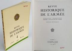 Revue historique de l'armée, n° 4  1948 (Kean105) Tags: livresanciens vieuxlivres antiquebooks armée guerre 3945 ww2 1938 1945