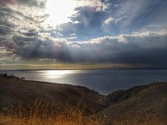 The sea and the cloudy sky..view from the mountain!!! (panoskaralis) Tags: bluesea sea seaside bluesky sky cloud clouds sun sunlight mountain mountainside mountains shore coast waterfront water island lesbos lesvos lesvosisland mytilene greece greek hellas hellenic outdoor landscape nature