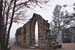 Fog at the ruins (beyondhue) Tags: mackenzie king estate gatineau park fall autumn fog foggy beyondhue quebec canada ruin stone