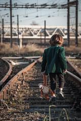 M'en vais en Theorie! (NoSound Photography) Tags: child rail shooting model baby boy nosoundphotography nikon light walking disney nature miseenscene modele garon book creation effect flickrunitedaward