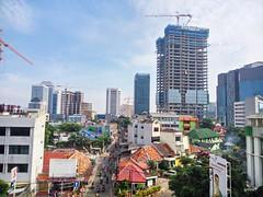 Jakarta Pusat (bagazi) Tags: skyscraper menara gedung construction konstruksi sky langit blue biru jakarta indonesia pesonaindonesia wonderfulindonesia