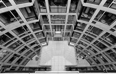 Long Way Down (Future-Echoes) Tags: 4star 5star 2016 architecture bw blackandwhite building columns curves down inside lines london