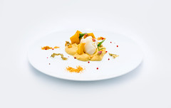 Baccal al Vapore su Ceci in Ceci e le sue Pannelle (lacookagency) Tags: photoshoot still life chef food dish white restaurant styling squid sicily background lacookagency gourmetidentity foodstyle
