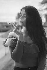 (kosciuczyka) Tags: girl polishgirl smoking beautiful nikon nikond5200 d5200 longhair long hair nikkor nikko nikkor50mm 50mm szczecin brunetter brunette beauty cigarette blue eyes blueeyes smile teeth winter tattoo tattoogirl tattoed phoenix feniks friends
