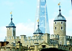 London towers (Chris & Angela Pye) Tags: urban london history towerbridge buildings scenery shard toweroflondon