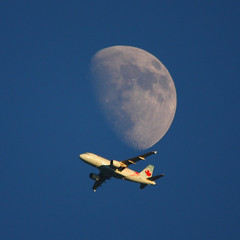 air canada (jlp771) Tags: sky moon lune plane tele 500mm