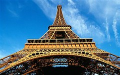 A4H5GT (assiazianinadifi) Tags: travel blue sky paris france color building tower monument horizontal architecture outdoors photography day view angle image low nobody landmark eiffel tourist castiron historical imposing attraction towering gustave destinations 1880s