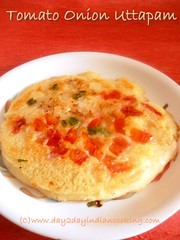 recipe of making tomato onion uttapam, breakfast recipe