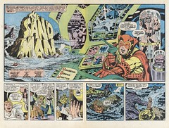 Sandman #01 by Jack Kirby (Derek Langille) Tags: our art comics jack spread dc kirby comic double page sandman fighting marvel jackkirby forces