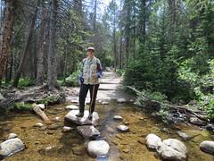 Estes/RMNP July 5 2013 - 38 (cannellfan) Tags: bridge water creek stream trail steppingstones rockymountainnationalpark 2013 beckywurmclark