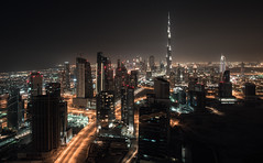Downtown (jmhuttun) Tags: city night dark lights nikon dubai uae unitedarabemirates d800