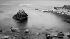Calm sea in B/W (Photopeter71) Tags: longexposure sea bw costa seascape abstract blancoynegro water marina landscape atardecer mar spain agua paisaj