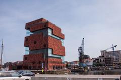 MAS (beta karel) Tags: building museum harbor mas cityscape belgium crane antwerpen 2013 betakarel