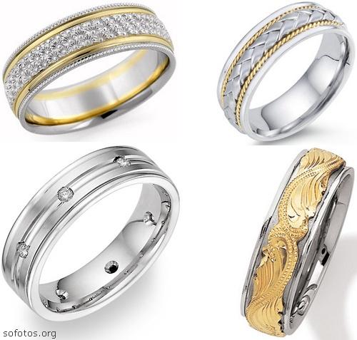 Alianças para casamento e noivado