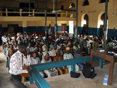 Farmers in attendance at cassava farmers forum, Ondo Central in Nigeria (IITA Image Library) Tags: usaid nigeria cassava iita manihotesculenta farmersforum improvedcassavavarieties