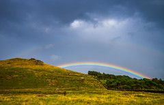 Almost at the pot of gold. (Mr Bultitude) Tags: mourne mountains rainbow rain newcastle sandy brae northern ireland sleivemageogh day