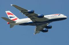 Airbus A380, G-XLEA, British Airways. (PRA Images) Tags: airbus a380 britishairways lhr heathrowairport egll gxlea