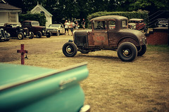 Hayride (dimitri_ca) Tags: england car fashion race vintage concentration fifties group tattoos gathering hotrod 50s hayride custom oldcar pinup carshow jamboree groups fatrat thehotrodhayride