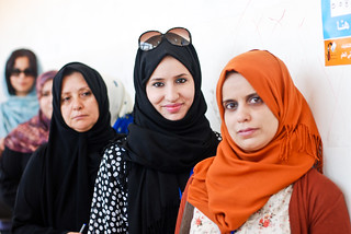 Women waiting to vote