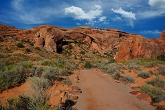 IMG_8315 Arches National Park ~ Moab, Utah (Bettina Woolbright) Tags: blue red sky orange rock utah nationalpark arches september moab archesnationalpark moabutah 70200l 35l bettinawoolbright woolbr8stl 5d3