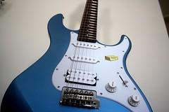 Yamaha 4 (Sudev Bangah) Tags: blue guitar 110 yamaha pacifica cheap stratocaster pelham
