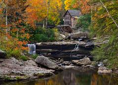 Autumn Perfection (pdxsafariguy) Tags: autumn reflection mill creek waterfall rustic westvirginia watermill gristmill tomschwabel gladecreek babcockstatepark gladecreekgristmill gladegristmill
