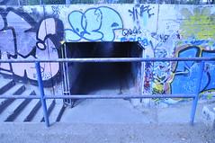 tunel baranda (M.ricardo) Tags: chile entrada tunel acceso sanbernardo tunelpeatonal