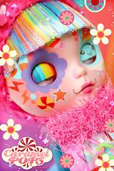 Rainbow Dash ( Caramelaw ) Tags: cute rainbow doll candy helmet approved blythe colourful custom unicorn caramelpops caramelaw