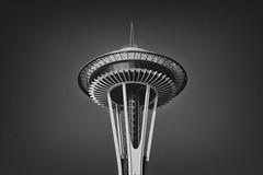 Seattle Space Needle (Rob Eakins) Tags: seattle canon silver washington downtown place market space 7d spaceneedle pikes nik supersonics colorefex efex viveza canon7d