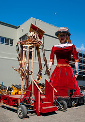 Busty Lady (Jocey K) Tags: newzealand christchurch buildings puppets cbd festa canterburytales archtiecture