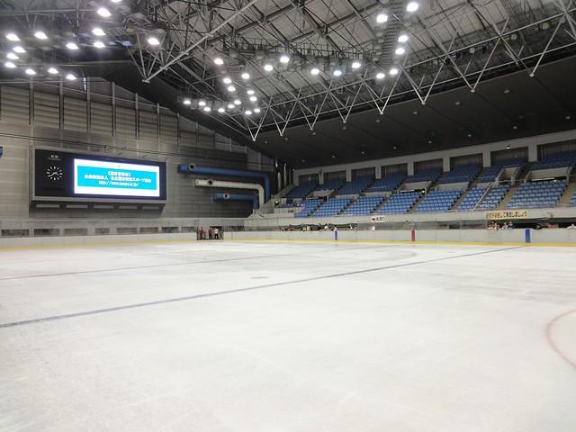 ちょうど氷の整備作業中でした。|日本ガイシスポーツプラザ ガイシアリーナ