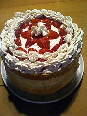 Cake by Ellen (jjldickinson) Tags: casiogzonerock wrigley food cooking dessert baking cake whippedcream strawberry longbeach