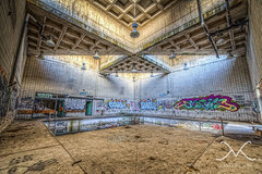 Swimming in sludge (Mike Ver Sprill - Milky Way Mike) Tags: ny newyork abandoned pool architecture concrete nikon urbandecay urbanexploration hdr highdynamicrange mv ue mentalhospital insaneasylum hudsonvalley d600 photomatix5 michaelversprill mikeversprill swimminginsludge