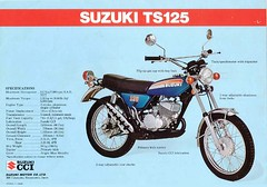 1974 Suzuki TS125l brochure (Rickster G) Tags: pictures road two classic vintage ads photo flyer cross offroad image photos antique album picture motorcycles stroke images off literature oldschool trail photographs photograph 400 tc motorcycle 70s 100 dirtbike suzuki collectible collectors sales brochure mx rare spec ts 250 twostroke enduro dealer motox 185 125 2stroke twinshock vjm motocrosser