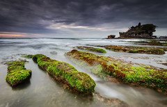 Mossy Tanah Lot, Bali (explore 4-12-13) (Mk Azmi) Tags: longexposure travel sunset sea sky bali cloud beach nature water indonesia moss nikon rocks seascapes images slowshutter getty tanahlot d800 singhray reversegnd