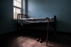 His Walking Stick (shutterclick3x) Tags: abandoned bedroom lightandshadow oldandforgotten frankloose