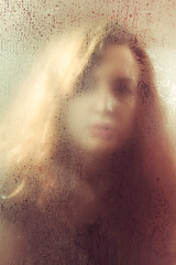 Ghosts Fade Away (miriness) Tags: selfportrait texture ghost outoffocus faded haunting condensation waterdrops beautyshot paleskin miriness annarobertsphotography